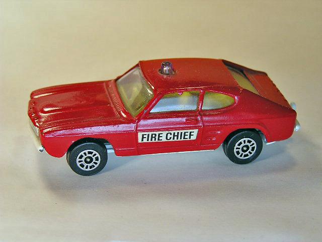 corgi juniors ford capri fire chief 39 s car. Black Bedroom Furniture Sets. Home Design Ideas